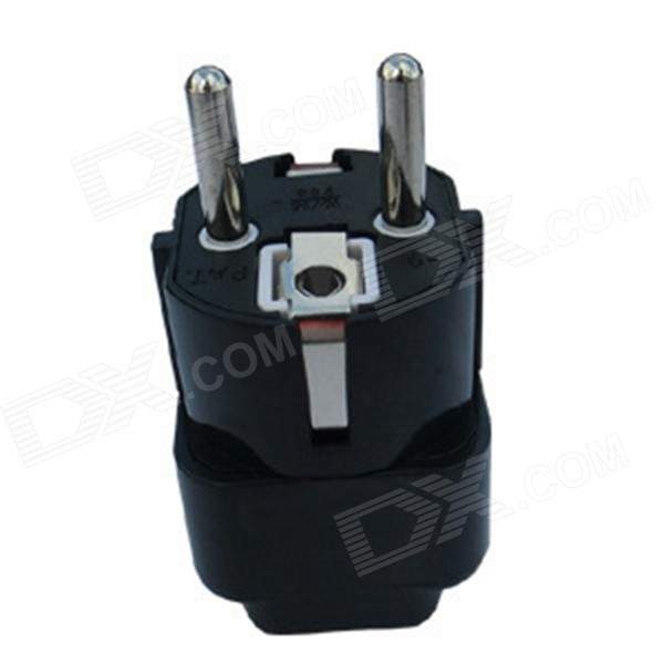 WD03 110~240V 1A Germany France Plug Power Travel Adapter - Black