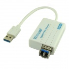 Winyao USB1000F-LX USB 3.0 1000Mbps Fiber Optical Network Card w/ SFP Optical Module - White