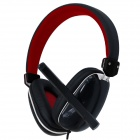 VYKON ME777 USB Computer Headphone w/ Microphone - Black + Red