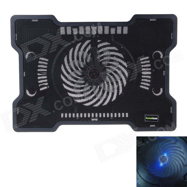 K37 Ultra-quiet USB Powered 1-Fan Cooling Pad for 14 inch Laptops - Black 2016 year very hot sale new small apple design high quality battery operated min usb powered table fan cooling fan