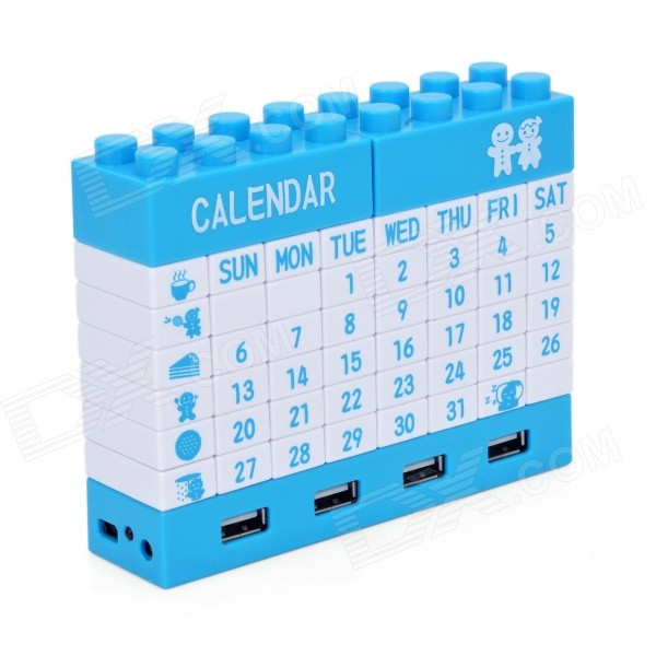 Calendar Blocks Diy : Diy building blocks puzzle calendar with ports usb hub