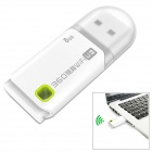 360 Portable Mini USB 2.0 Wi-Fi Access Point Adapter w/ 8GB Memory - White
