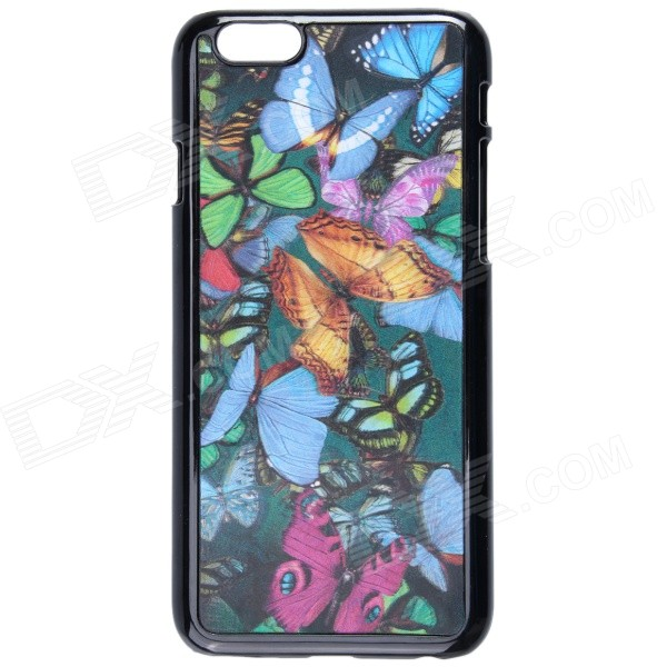 Fashionable 3D Colorful Butterflies Pattern Protective Plastic Case for IPHONE 6 4.7 - Multicolored colorful feather pattern protective plastic case for iphone 5