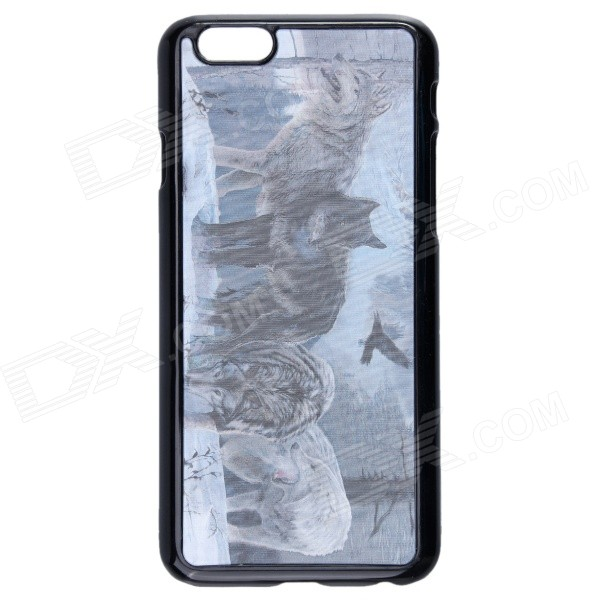 Fashionable 3D Wolf Pattern Protective Plastic Case for IPHONE 6 4.7 - Black + Gray lone wolf and cub omni vol 6