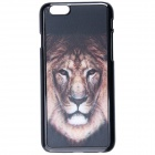 "Fashionable 3D Lion Pattern Protective Plastic Case for IPHONE 6 4.7"" - Black + Brass"