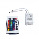 Waterproof 5m 150-SMD 5050 RGB LED Light Strip w/ 24-Key Remote Controller / AC Adapter Set