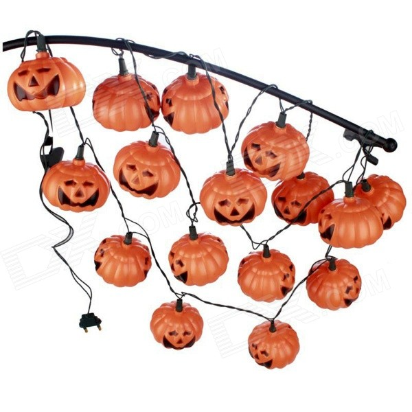 Halloween Pumpkin Hanging Decoration Lamps Lights - Yellow halloween plastic skeleton frame hanging decoration silver black 4 pcs