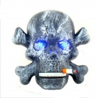 Universal / Halloween Props Scary Sound Sensor Glowing Skull Trick Toy - Grey