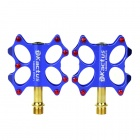 KACTUS 07B Bike Bicycle Stainless Steel Pedals - Blue (Pair)