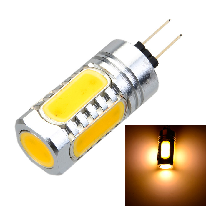 G4 7.5W 600lm 3000K 5-COB LED Warm White Light Spot Bulb (DC 12V) g4 bi pin led bulb mini silicone 1505 cob spot light 12v dc warm cool white