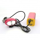 BK008 2-LED 4-Mode 1200lm Cold White Light Bike Light - Red (4 x 18650)