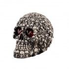 Halloween Scary Glowing Resin Skull Decoration Trick Props - Grey