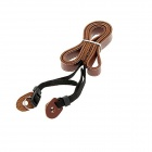 Professional Genuiue Leather Shoulder Strap for ILDC Camera / Digital Camera - Brown + Black