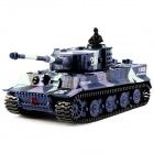 Great Wall 2117 Simulation Tiger 14-CH Remote Control Tank Toy - Deep Blue
