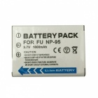 FNP-95 3.7V 1800mAh Li-ion Battery for FUJIFILM FinePix F30 / Real 3D W1 / F31fd - White + Black