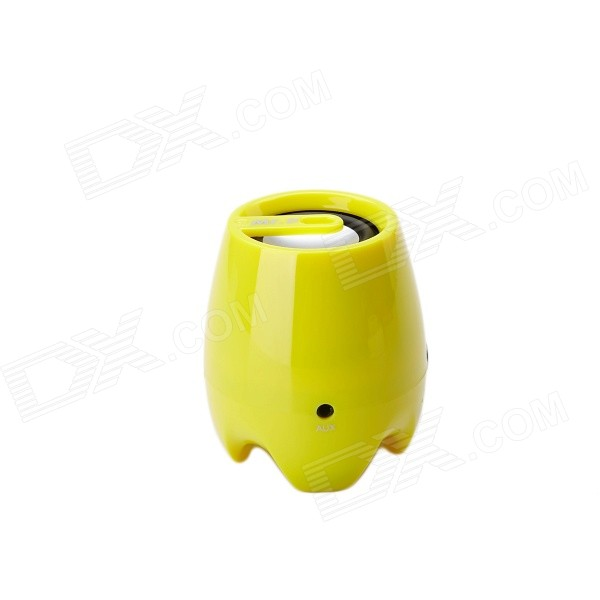 MR.D 93B Portable Bluetooth V3.0 Player Speaker w/ TF / Micro USB - Yellow + Silver mr d 93b portable bluetooth v3 0 player speaker w tf micro usb yellow silver