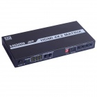 1080P 3D HDMI1.4 4 In 2 Out Matrix Power Amplified Switch / Splitter w/ IR + Remote Control - Black