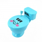 Creative Closestool Style Coffee Cup with Cap / Spoon - Blue + Black