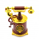 Retro Telephone Style Musical Box Toy - Coffee + Gold