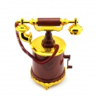 Retro Estilo Musical Box Toy Telefone - Coffee + Ouro