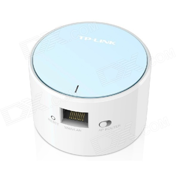 TP-LINK TL-WR706N 150Mbps Mini Wireless Router - White + Blue (US Plug)