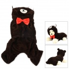 Halloween Panda Style Cotton Coat for Pet Cat / Dog - Deep Coffee (Size S)