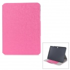 "Flip-open PU + PC Case w/ Holder + Card Slot for Samsung Galaxy Tab 4 T530 10.1"" - Deep Pink"
