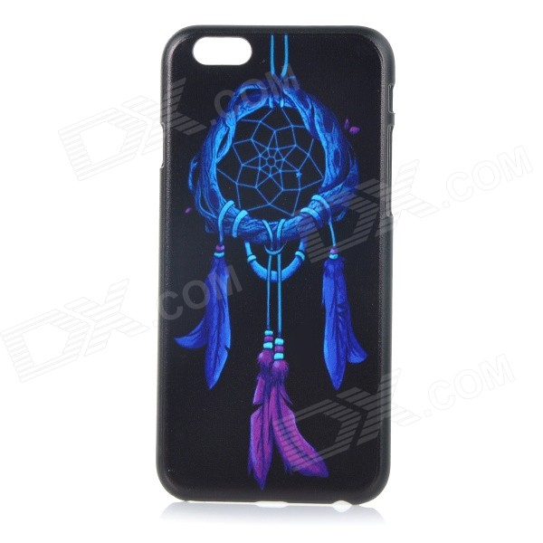 Chinese Knot Patterned Protective Plastic Back Case Cover for IPHONE 6 4.7 - Black + Bluish Violet tpu imd patterned gel cover for iphone 7 4 7 inch dream catcher
