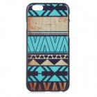 "Elegante Patterned Protective Plastic Volver Funda para IPHONE 6 4.7 ""- Negro + azul + Multi-color de"