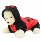 Halloween Ladybug Style Cotton Coat for Pet Cat / Dog - Black + Red (M)