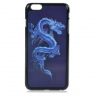 "3D Dragon Patterned Protective PC + PVT Back Case Cover for IPHONE 6 PLUS 5.5"" - Black + Blue"
