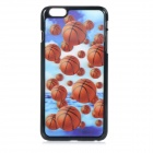 "3D Basketball Patterned Protective PC + PVT Back Case Cover for IPHONE 6 PLUS 5.5"" - Black + Orange"