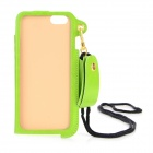 "Protective PU Case w/ Strap / Card Slot / Stand for IPHONE 6 / 6S 4.7"" - Green"