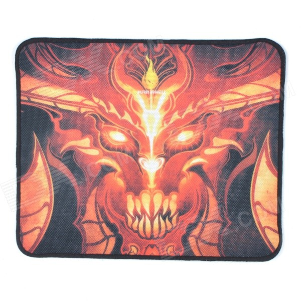 FIRE-PAD D3 Portable Patterned Rubber Mouse Pad Mat - Orange