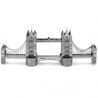 Миниатюрный 3D London Tower Bridge металлик Nano Puzzle - Серебряный