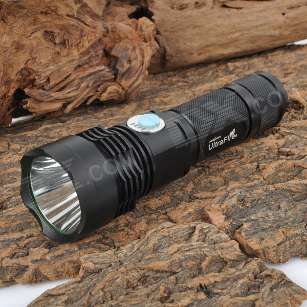 UltraFire XGH-01-L2 900lm 4-Mode Cool White LED Flashlight w/ Battery Indicator (1 x 18650 / 26650) ultrafire xgh 50s l2 900lm 5 mode white led flashlight black 1 x 18650