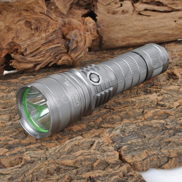 UltraFire XGH-X60 900lm 5-Mode Cool White LED Bright Flashlight - Silver (1 x 18650 / 26650)