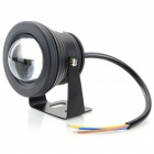 JRLED JRLED-10W-WW impermeable 10W 600lm 3200K LED Spotlight Blanco Cálido - Negro (AC 85 ~ 265V)