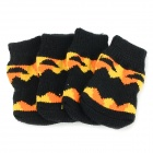 Pumpkin Patterned Halloween Anti-skid Cotton Socks for Pet Cat / Dog - Black + Yellow (S / 4 PCS)