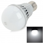 Zhouming E27 7W 660lm 6000K 14-SMD 5730 LED White Light Bulb - Silver (AC 220-240V)