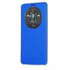 Qi Standard Wireless Charger Receiver PU Leather Case w/ Auto-Sleep for LG G3 - Navy Blue