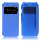 "Hat-Prince Protective PU + PC Case w/ Call Display Window for IPHONE 6 PLUS 5.5"" - Blue"