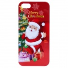 Santa Claus Pattern Protective PC Back Cover Case for IPHONE 5 / 5S - Red