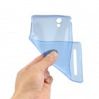 Angibabe 0.45mm Soft Translucent TPU Phone Case for Xperia T2 Ultra XM50t - Blue