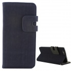 "High Quality Flip-Open PU + PC Case w/ Card Slots for 5.5 "" IPHONE 6 Plus - Deep Blue"