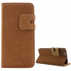 "High Quality Business Flip Open PU + PC Case w/ Card Slots for 5.5"" IPHONE 6 PLUS - Brown"