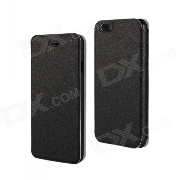 Stylish Flip-Open PU Leather + PC Case for IPHONE 6 4.7 - Black