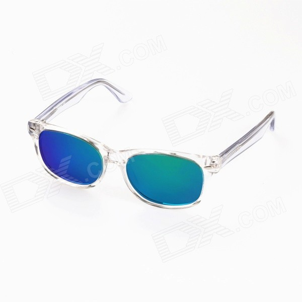 OREKA OR14016 Kid's UV400 Protection TR90 Frame Resin Lens Sunglasses - Transparent + Green REVO