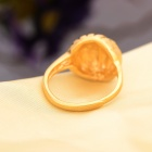 "KCCHSTAR 24K Gold-plated Copper ""Bird's Nest"" Style Finger Ring - Golden (US Size 8)"