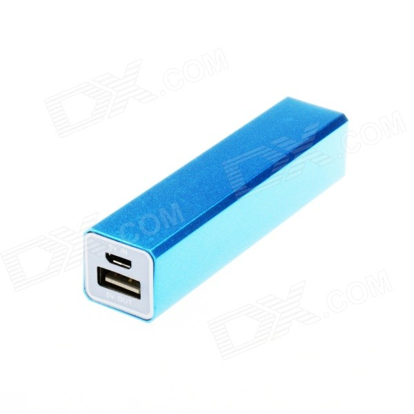 "Saída USB Kinston Universal ""2600mAh"" Li-ion Power Bank para o Samsung / IPHONE + Mais - Azul"